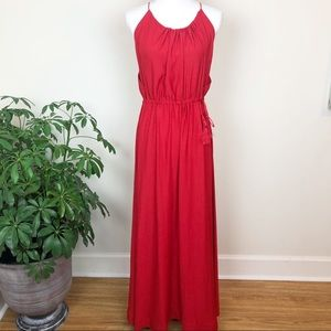 H&M red sleeveless maxi dress